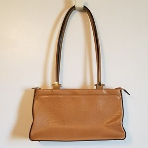 Mondani New York Tan Camel Shoulder Bag